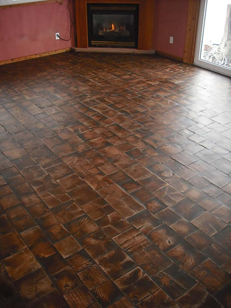 End Grain Wood Tile Flooring Muskoka Revival Flooring