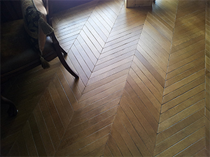 Custom Herringbone Flooring Made From Reclaimed And New