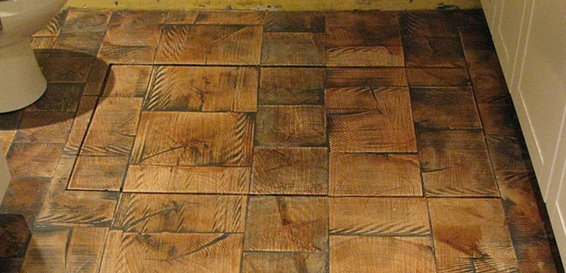 END GRAIN WOOD TILE FLOORING